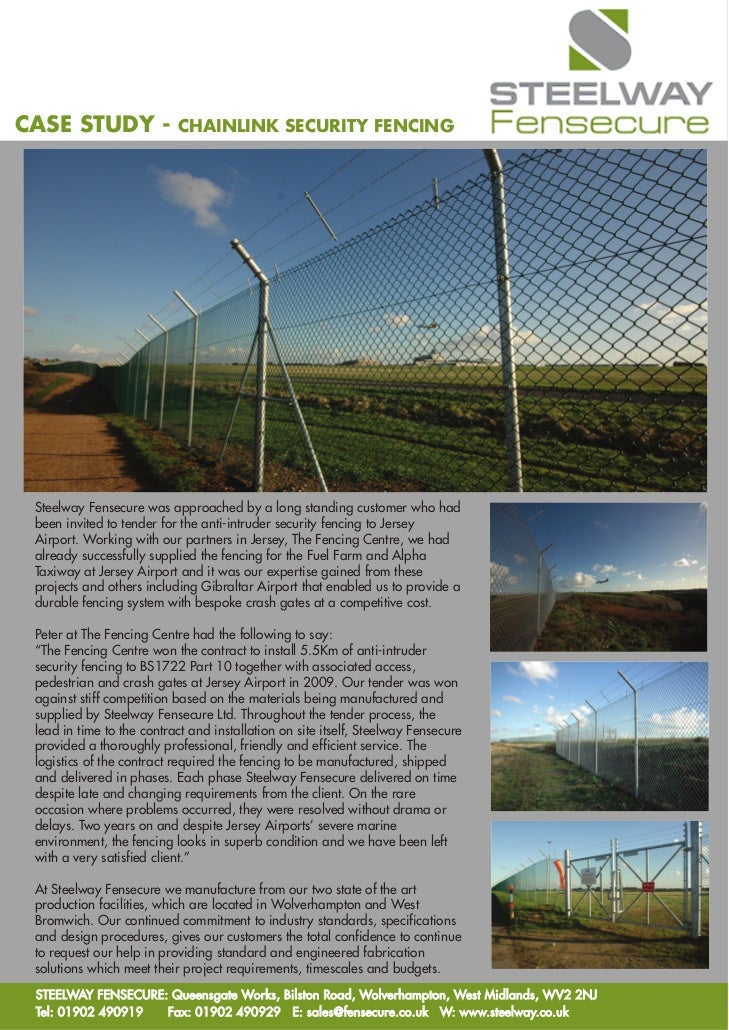 Fensecure case study chainlink security fencing, jersey airport