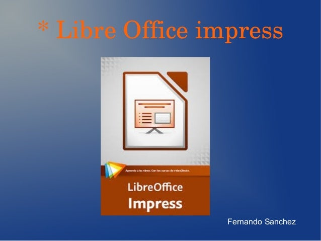 Libre Office Impress Slide Number