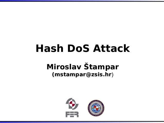 Hash DoS Attack