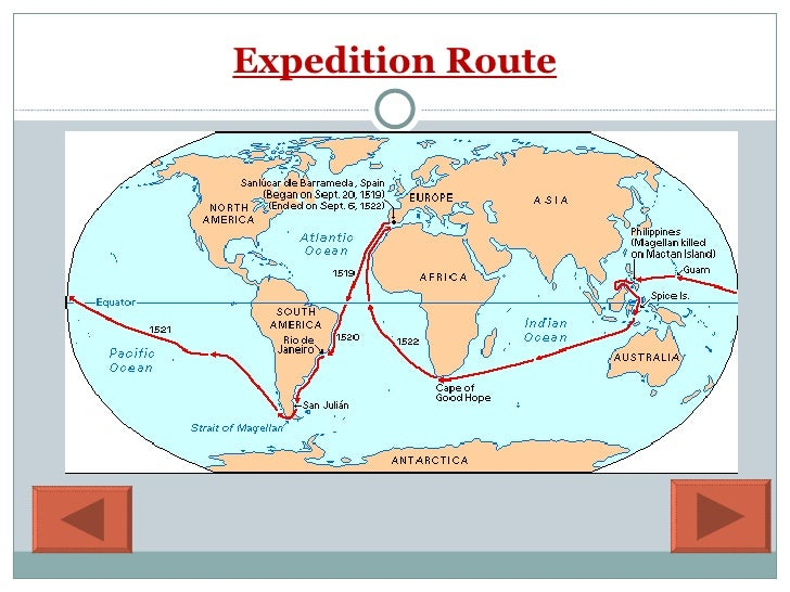 Map Of Ferdinand Magellan\'s Route. Map. free download images ...