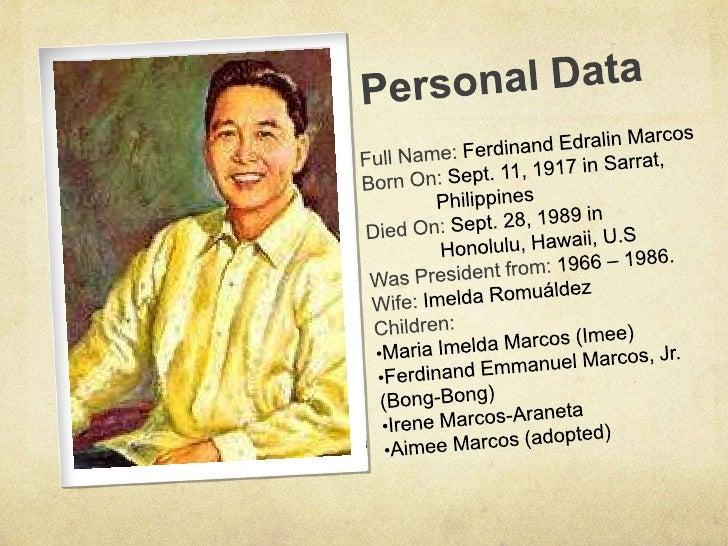 Ferdinand Marcos Talambuhay Ferdinand Marcos Talambuhay
