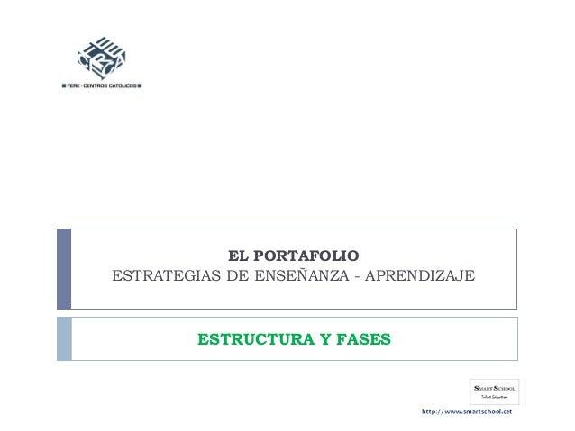 EL PORTAFOLIO ESTRATEGIAS DE ENSEÑANZA - APRENDIZAJE ESTRUCTURA Y FASES