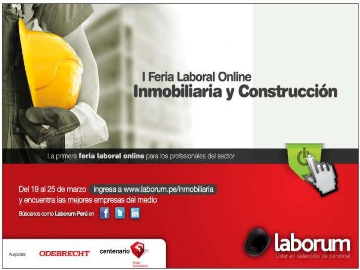 I Feria Laboral Online de Inmobiliaria y Construcción