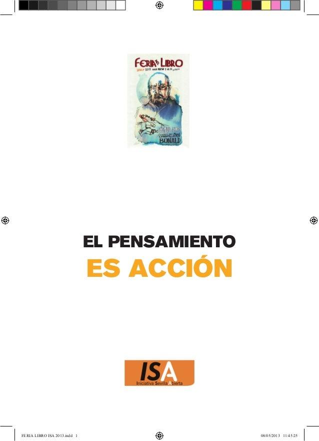 EL PENSAMIENTOES ACCIÓNFERIA LIBRO ISA 2013.indd 1 08/05/2013 11:45:25