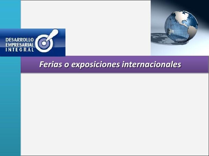 Ferias o exposiciones internacionales