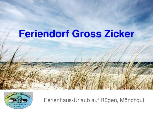Feriendorf Gross Zicker Ferienhaus-Urlaub auf Rügen, Mönchgut