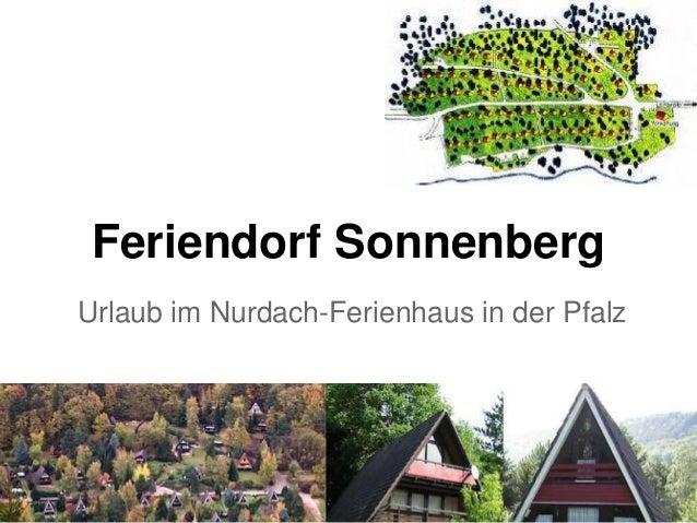 Feriendorf Sonnenberg Urlaub im Nurdach-Ferienhaus in der Pfalz