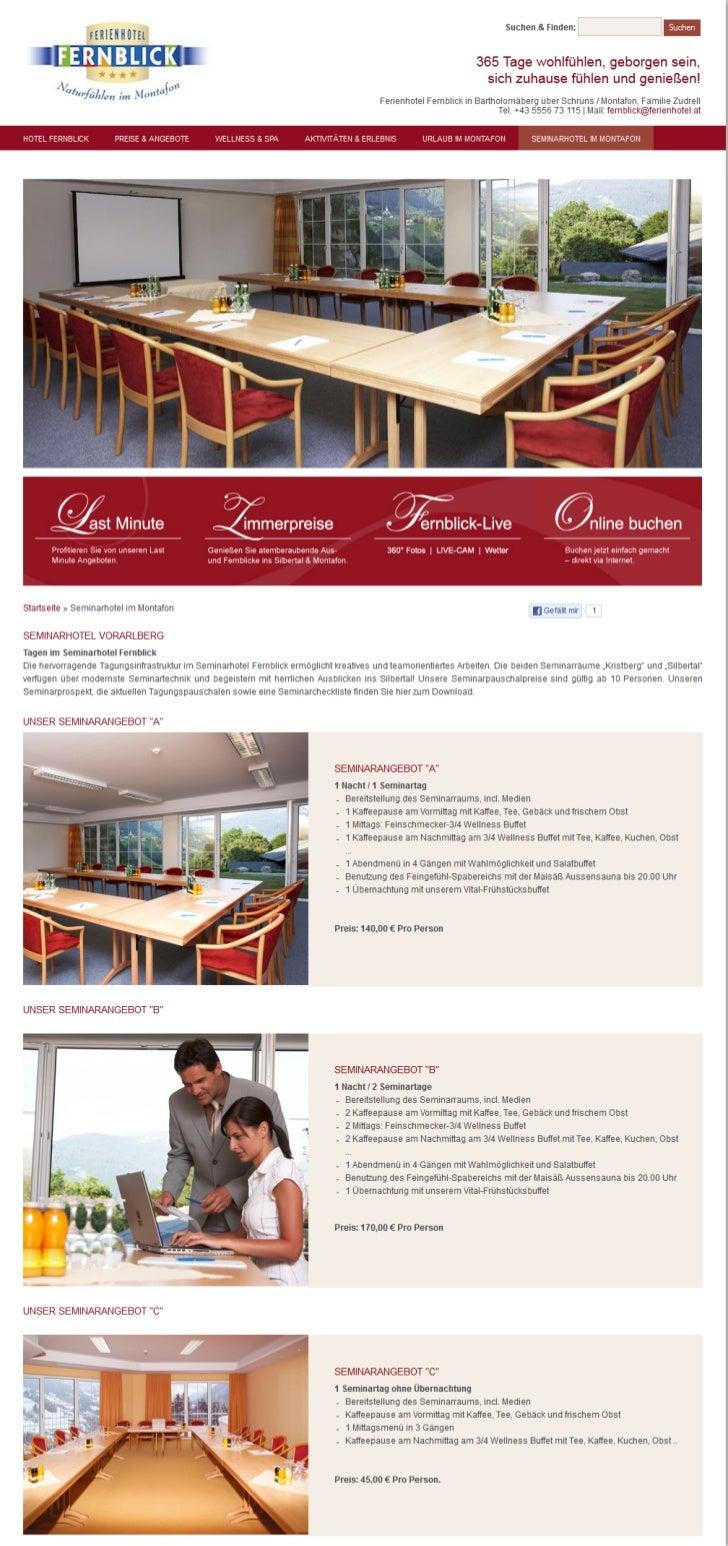 Ferienhotel Fernblick - Das Seminarhotel im Montafon
