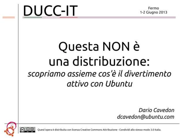 Ubuntu: questa non è una distribuzione!