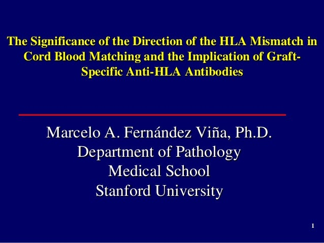 1 The Significance of the Direction of the HLA Mismatch in Cord Blood Matching and the Implication of Graft- Specific Anti...