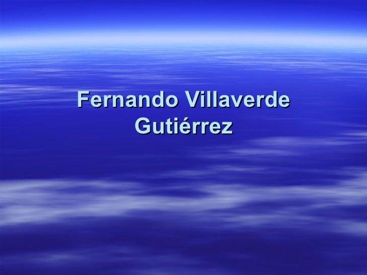 Fernando Villaverde Gutiérrez