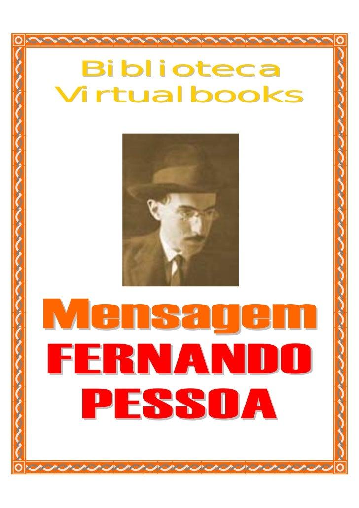 BibliotecaVirtualbooksMensagemFERNANDO PESSOA