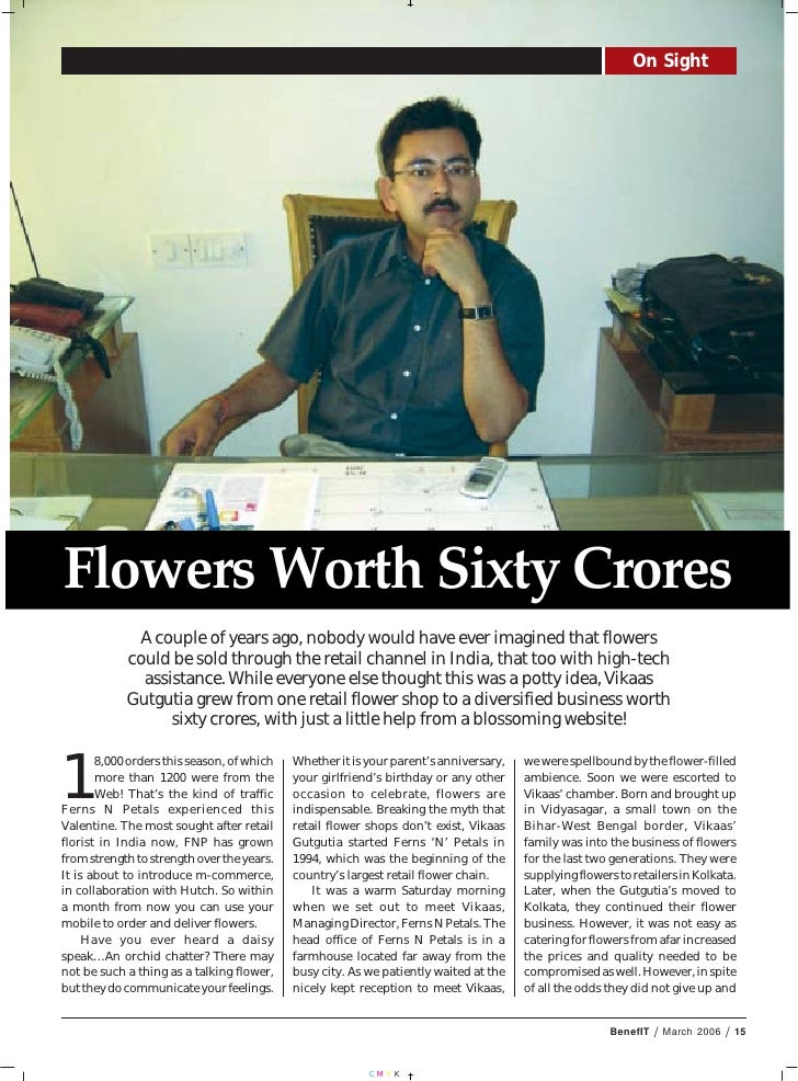 Flowers Worth Sixty Crores