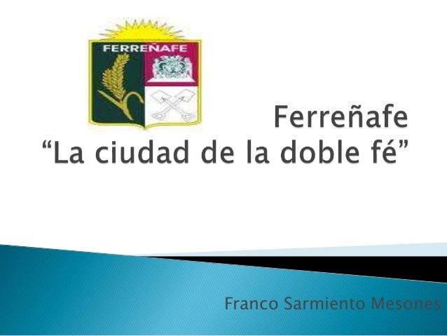 Franco Sarmiento Mesones