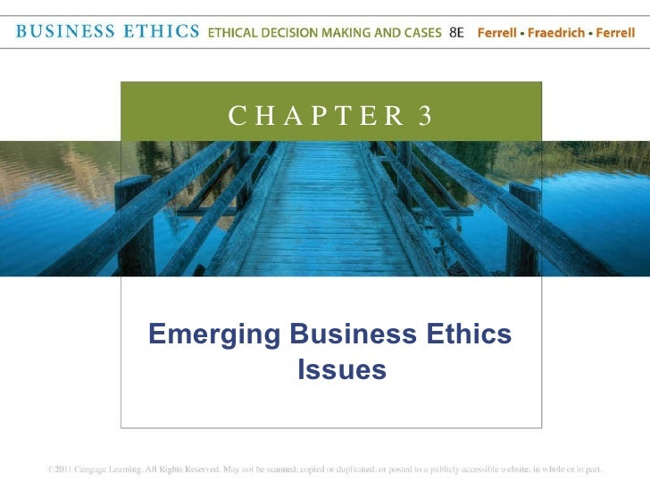 <ul><li>Emerging Business Ethics Issues </li></ul>C H A P T E R  3