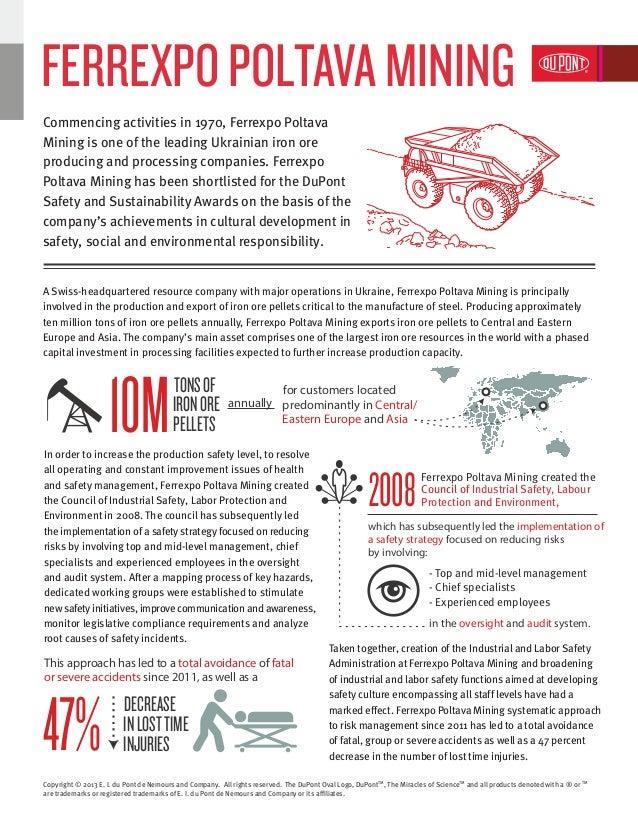 A Swiss-headquartered resource company with major operations in Ukraine, Ferrexpo Poltava Mining is principally involved i...