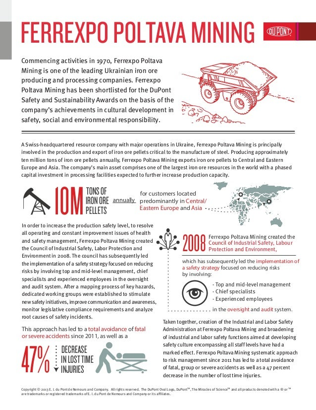Ferrexpo | DuPont Safety and Sustainability Awards 2013