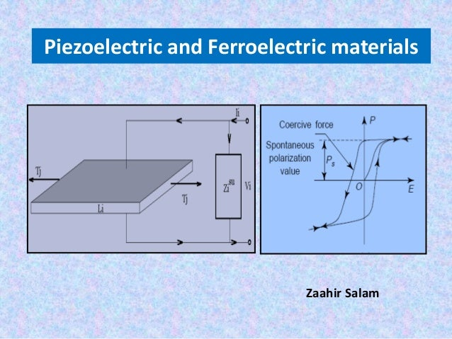 Ferroelectric and piezoelectric materials