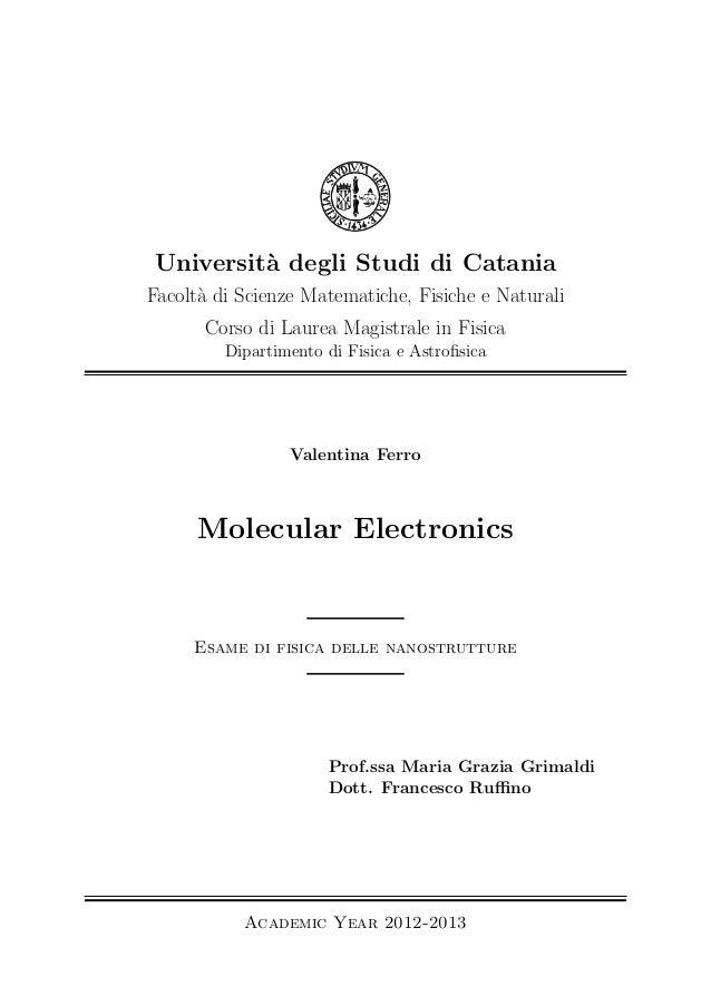 Universit`a degli Studi di Catania Facolt`a di Scienze Matematiche, Fisiche e Naturali Corso di Laurea Magistrale in Fisic...