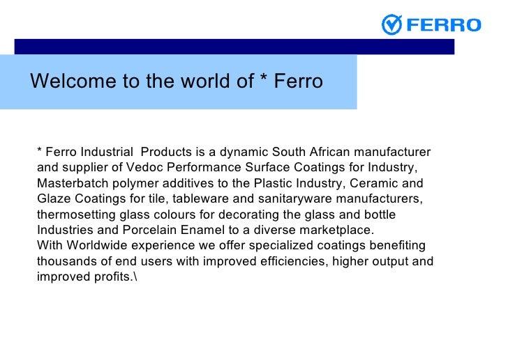 Ferro Powder Coatings Presentation