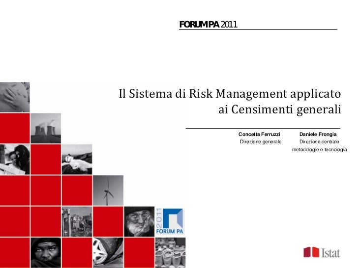 C. Ferruzzi, D. Frongia:  Il Sistema di Risk Management applicato ai Censimenti generali