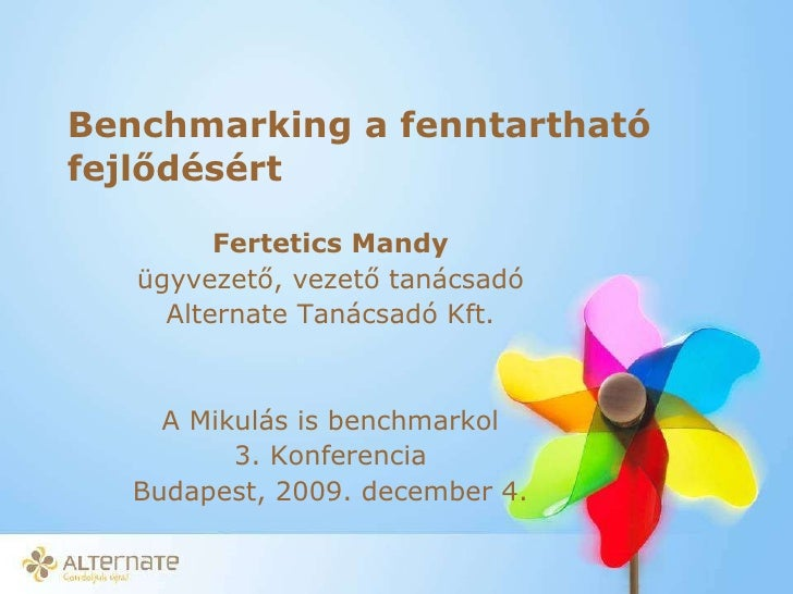 Fertetics Mandy -  Fenntarthato Fejlődés/CSR Benchmarking