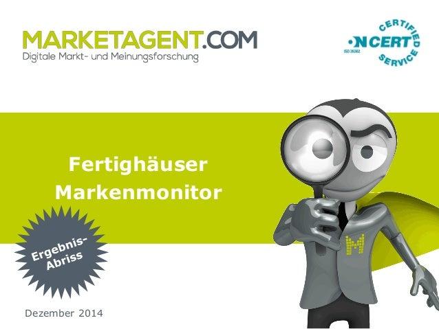 Fertighäuser Markenmonitor Dezember 2014