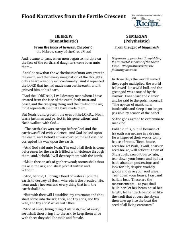 Fertile Crescent Flood Narratives