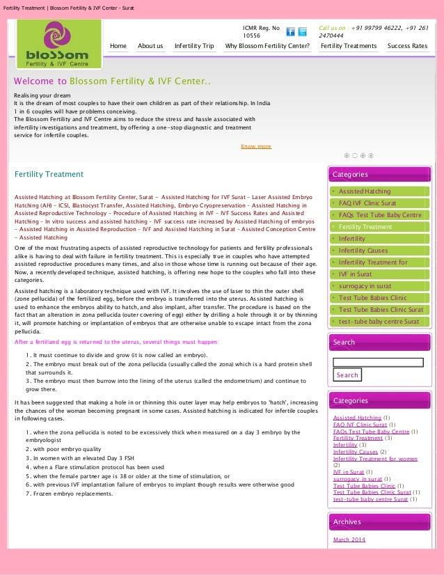 Fertility Treatment | Blossom Fertility & IVF Center - Surat ICMR Reg. No 10556 Call us on : +91 99799 46222, +91 261 2470...