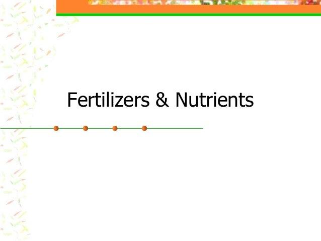 Fertilizers & nutrients (1)