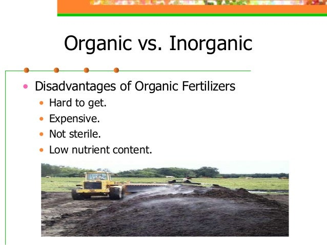 chemical fertilizers vs organic fertilizers Chemical fertilizer vs organic fertilizer comparison a chemical fertilizer is  defined as any inorganic material of wholly or partially synthetic origin that is  added.