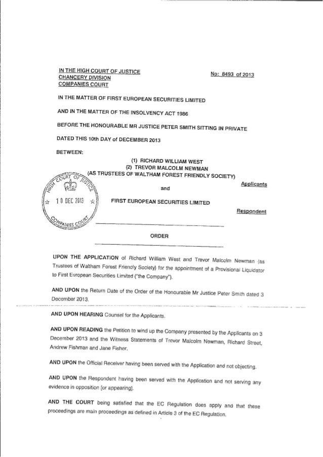FES Liquidation Order
