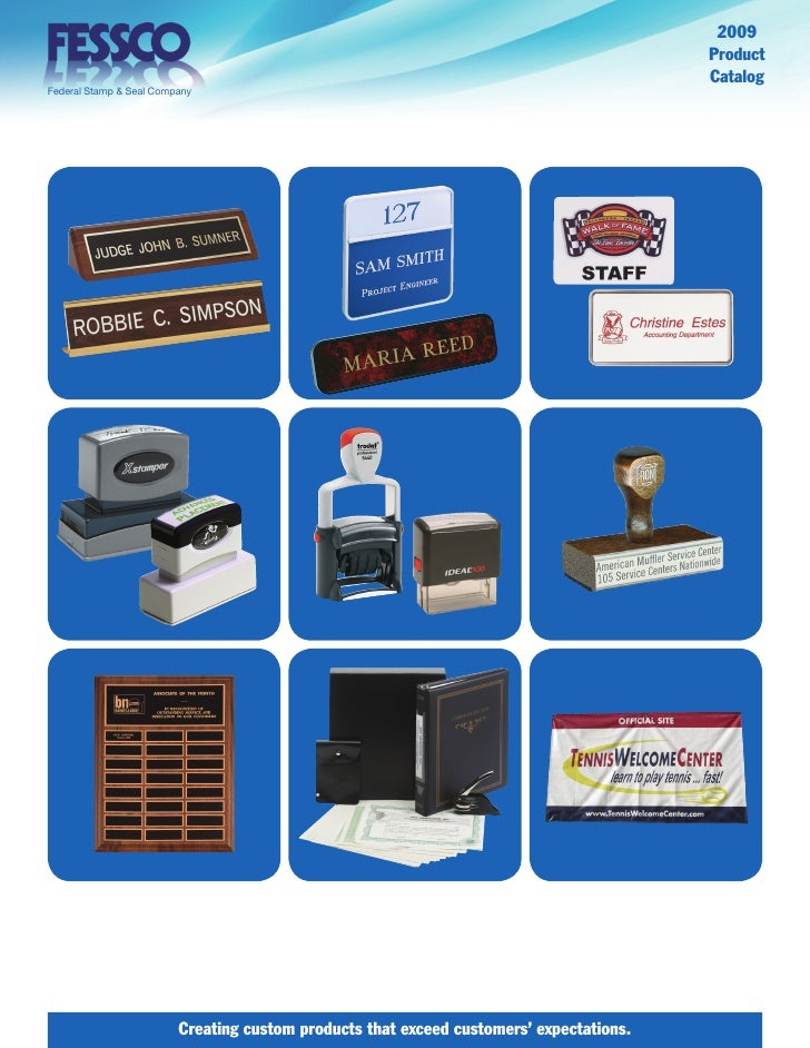 Federal Stamp & Seal (fessco) Catalog 2009
