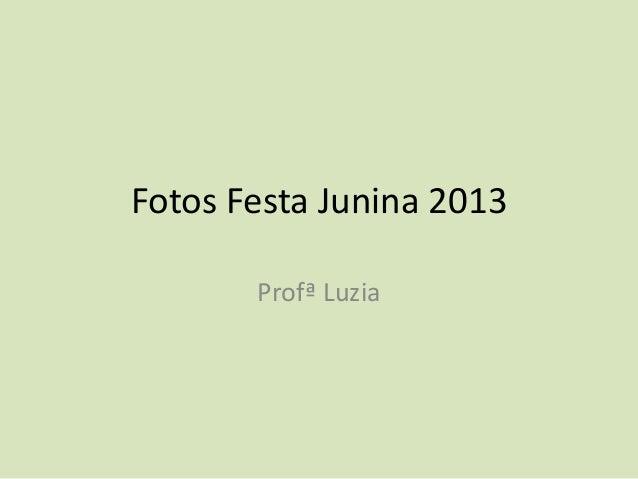 Fotos Festa Junina 2013Profª Luzia