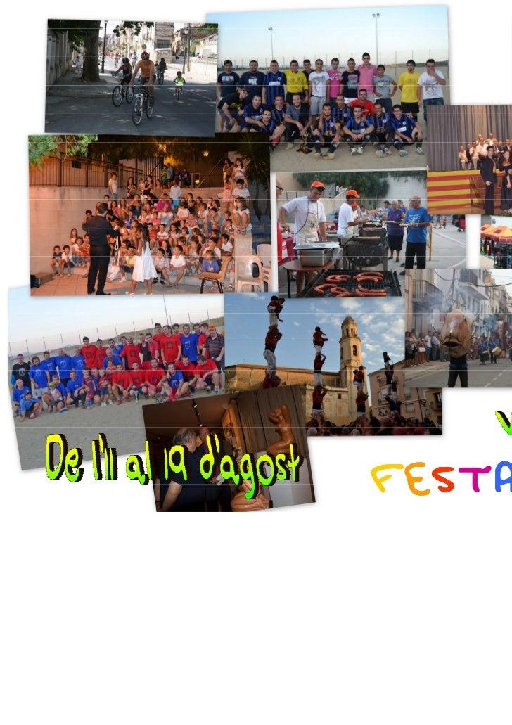 Festa major estiu vallmoll 2012