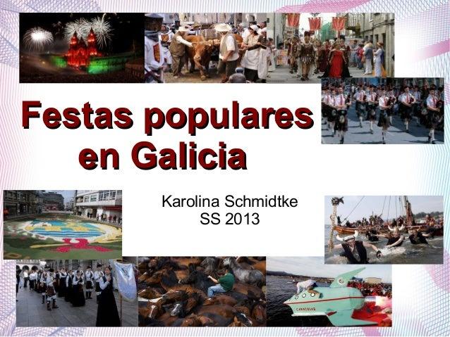 Festas populares en Galicia II