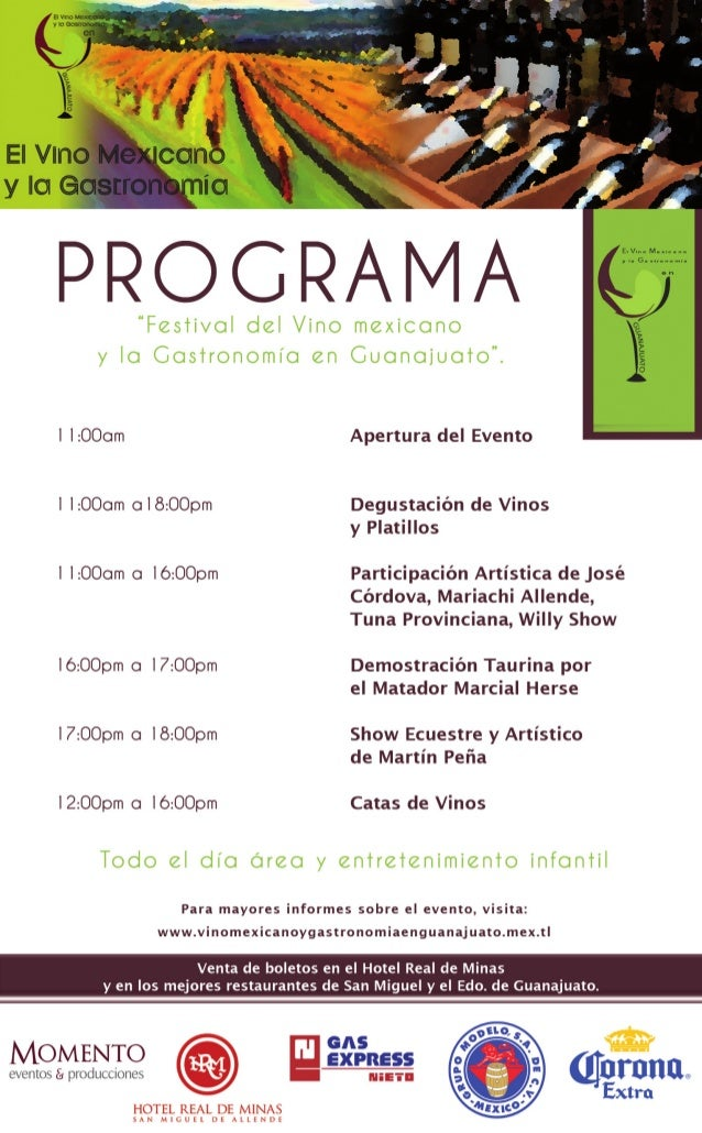 Festival del vino mexicano y la gastronomía en gto