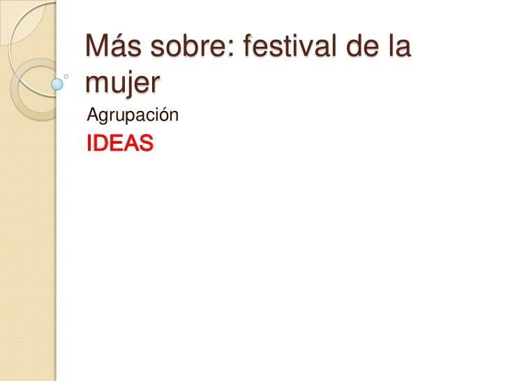 Festival mujer