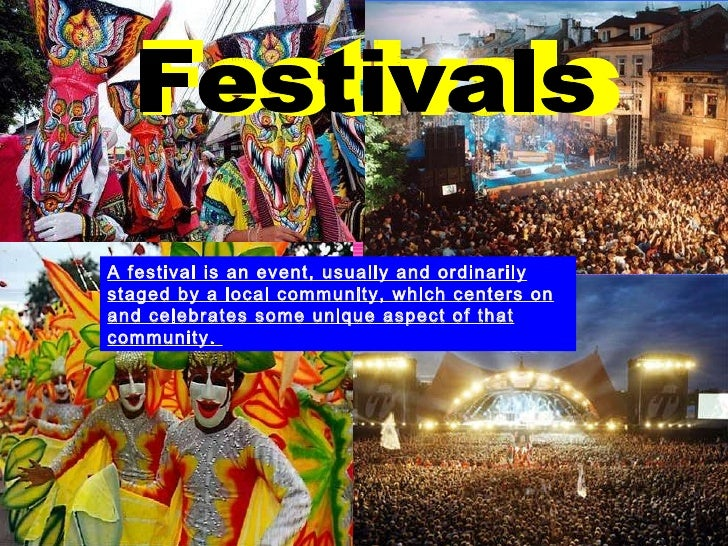 Different types of Festivals