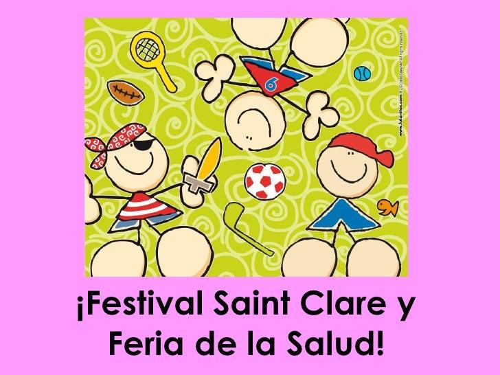 Festival saint clare y feria de la salud