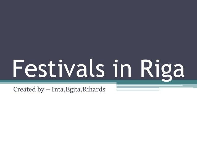 Festivals in Riga