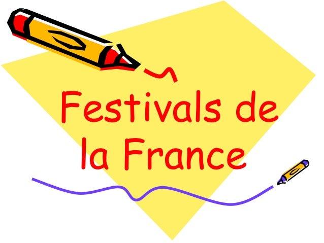 Festivals de la France