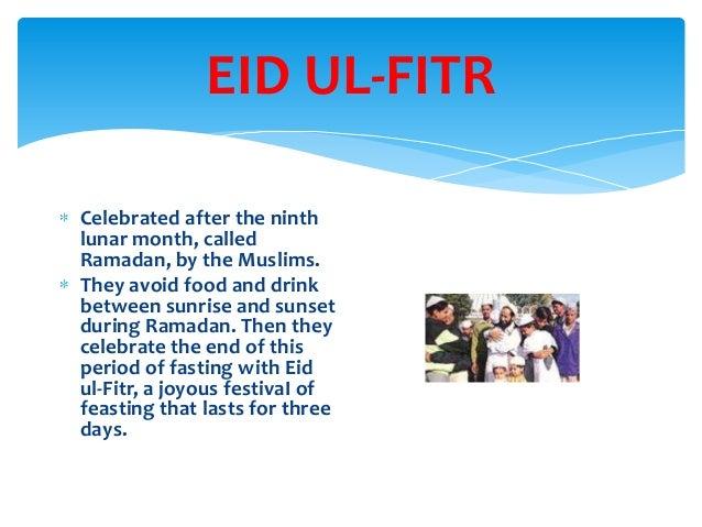 Write a paragraph on eid ul fitr
