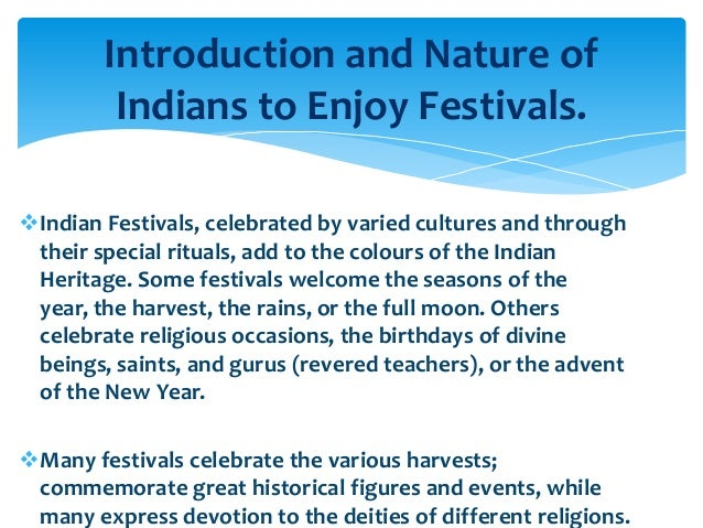Essay On Indian Festival