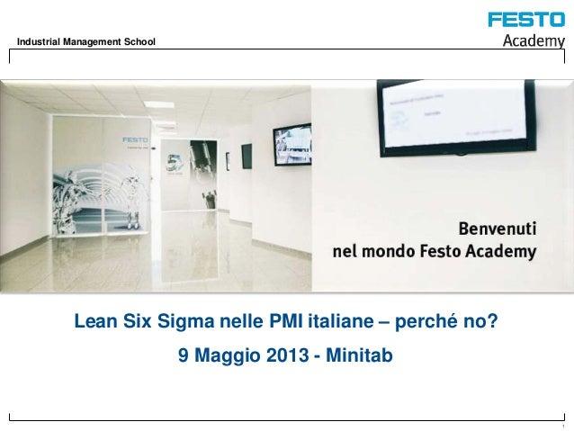 Festo Academy, Lean Six Sigma nelle PMI italiane – perché no?