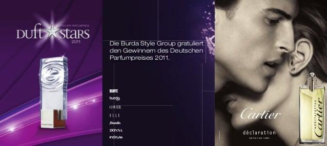 PARFUM POUR HOMME cartier.com Die Burda Style Group gratuliert den Gewinnern des Deutschen Parfumpreises 2011. ED INS_39L_...