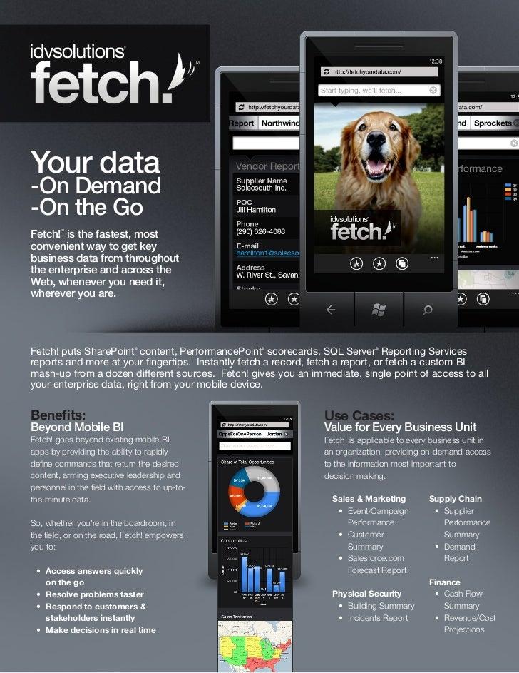Fetch! brochure