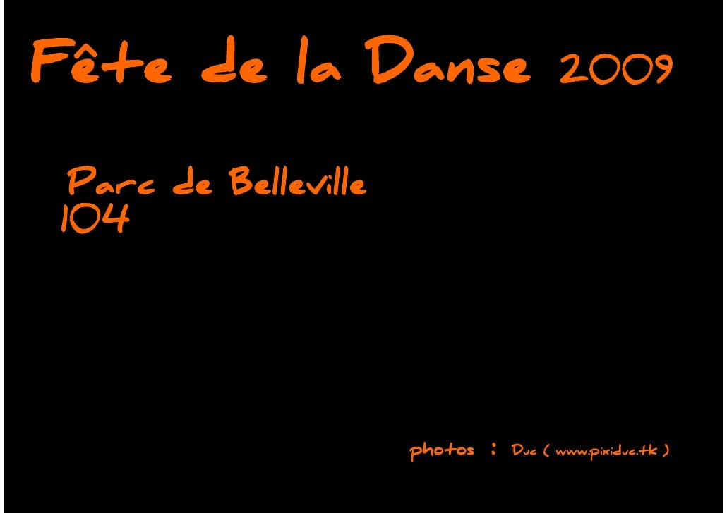 Fete De La Danse 2009