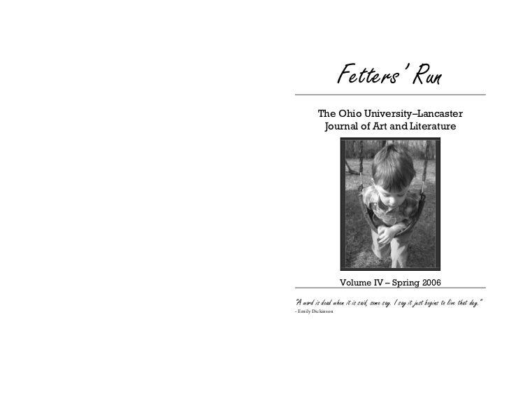 Fetters Run Literary Journal 2006