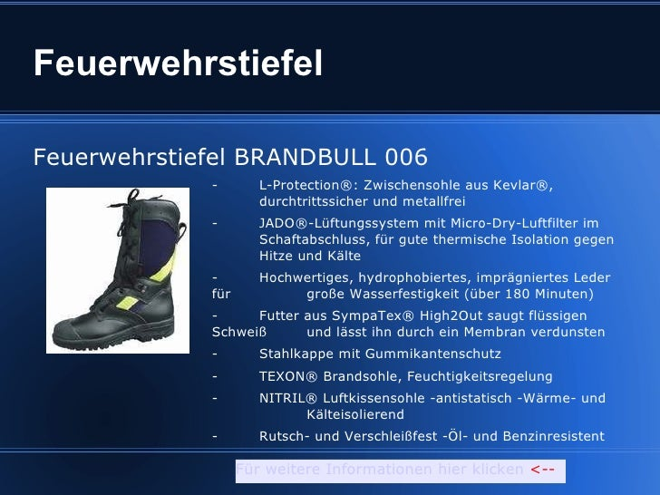 Feuerwehrstiefel Feuerwehrstiefel BRANDBULL 006 -  L-Protection®: Zwischensohle aus Kevlar®,    durchtrittssicher und meta...